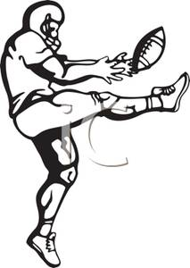 Gallery For > Football Punt Clipart.