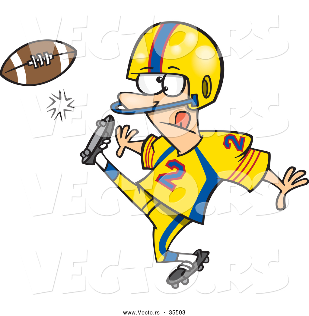 Football punt clipart.