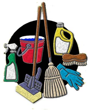 Residential House Cleaning Service Kerr Punta Clipart.