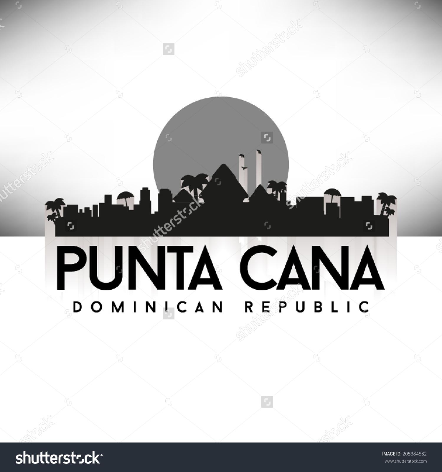 Dominican republic black and white clipart.