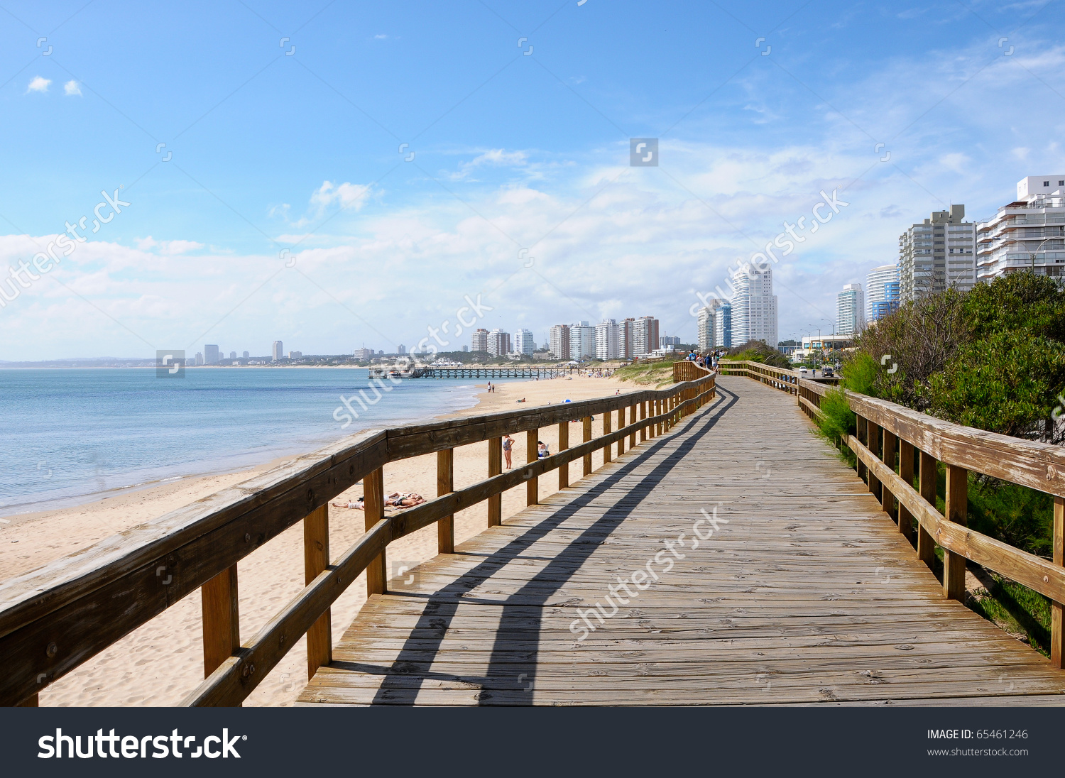Beach Punta Del Este Uruguay Stock Photo 65461246.