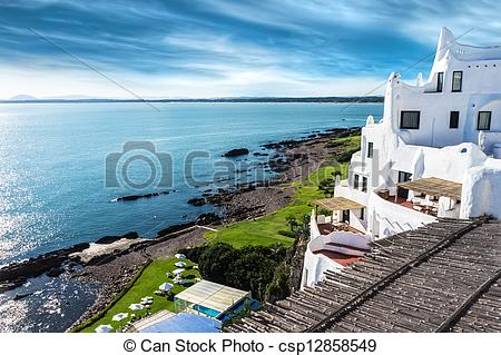 Stock Photo of Casapueblo Punta del Este Beach Uru.