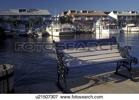 Picture of Punta Gorda, FL, Gulf of Mexico, Florida, City Dock and.