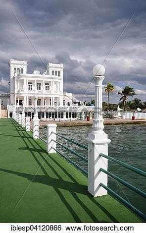 Stock Images of Club Cienfuegos Cienfuegos, yacht club, Punta.