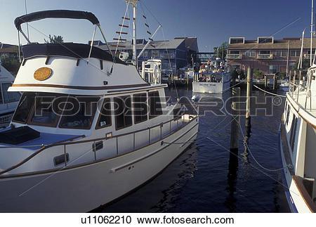 Stock Photography of Punta Gorda, FL, fishing boats, Gulf of.