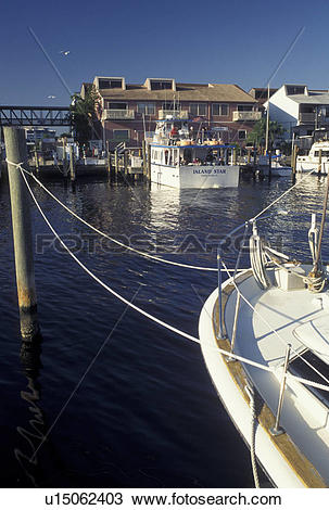Stock Photo of Punta Gorda, FL, Gulf of Mexico, Florida, City Dock.