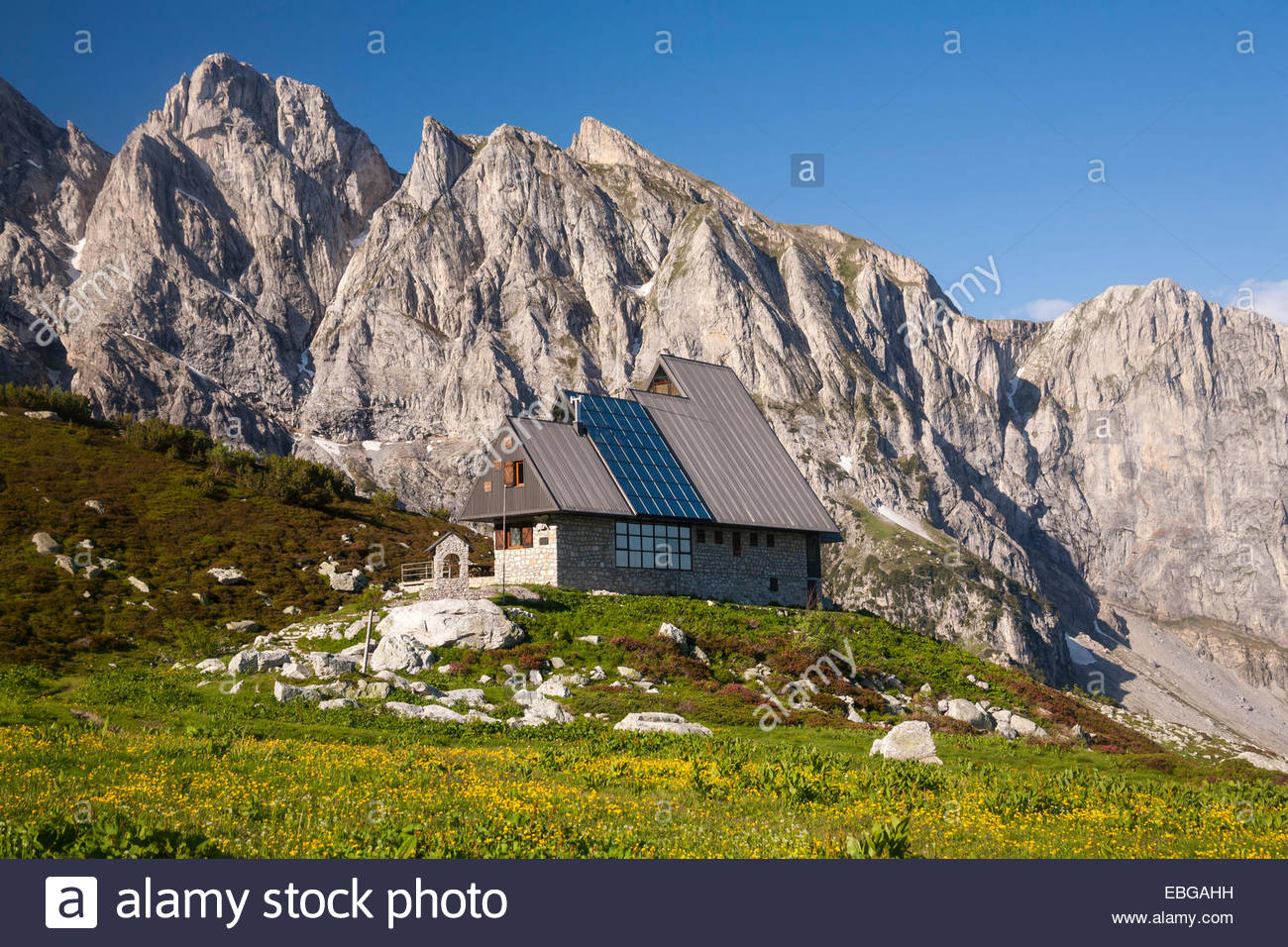 Rifugio Garelli Mountain Hut In Front Of The Northern Face Of.