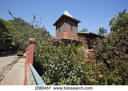 Picture of A church building; montezuma puntarenas costa rica.