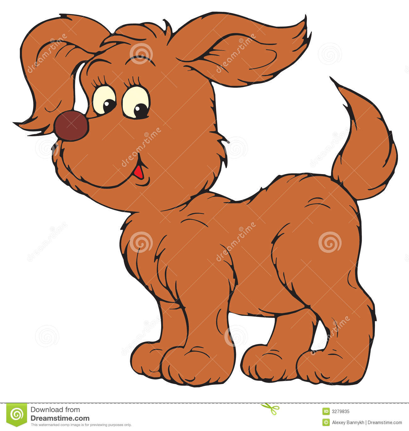 Dog And Pup (vector Clip.