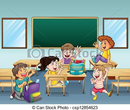 Pupils Classroom Clipart.