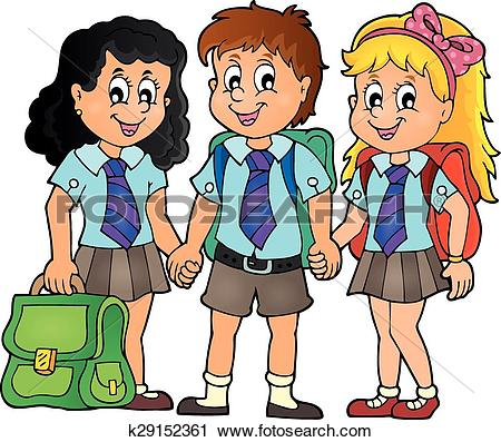 Clipart of School pupils theme image 3 k29152361.