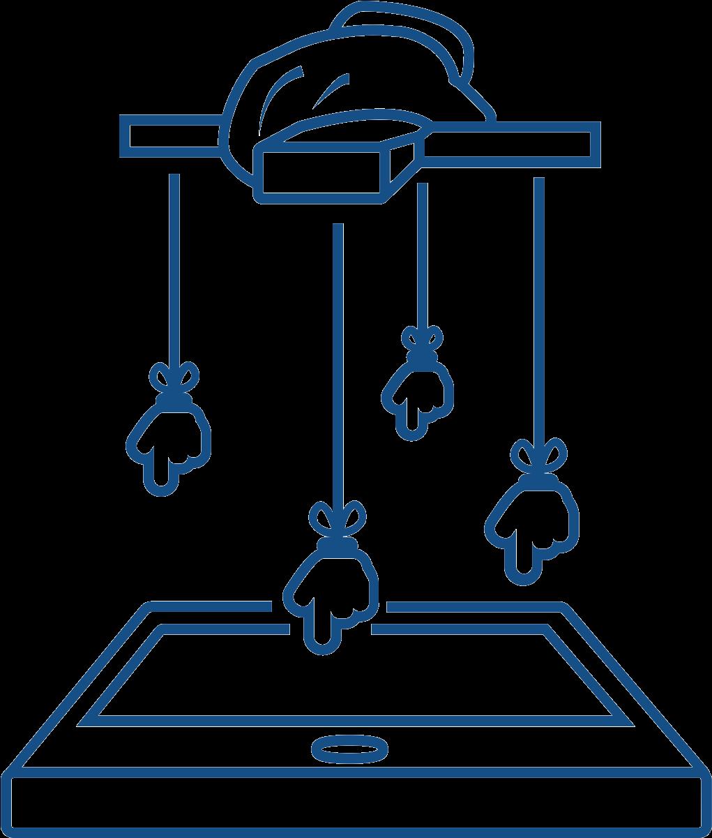 Technology Puppet Strings , Transparent Cartoon.