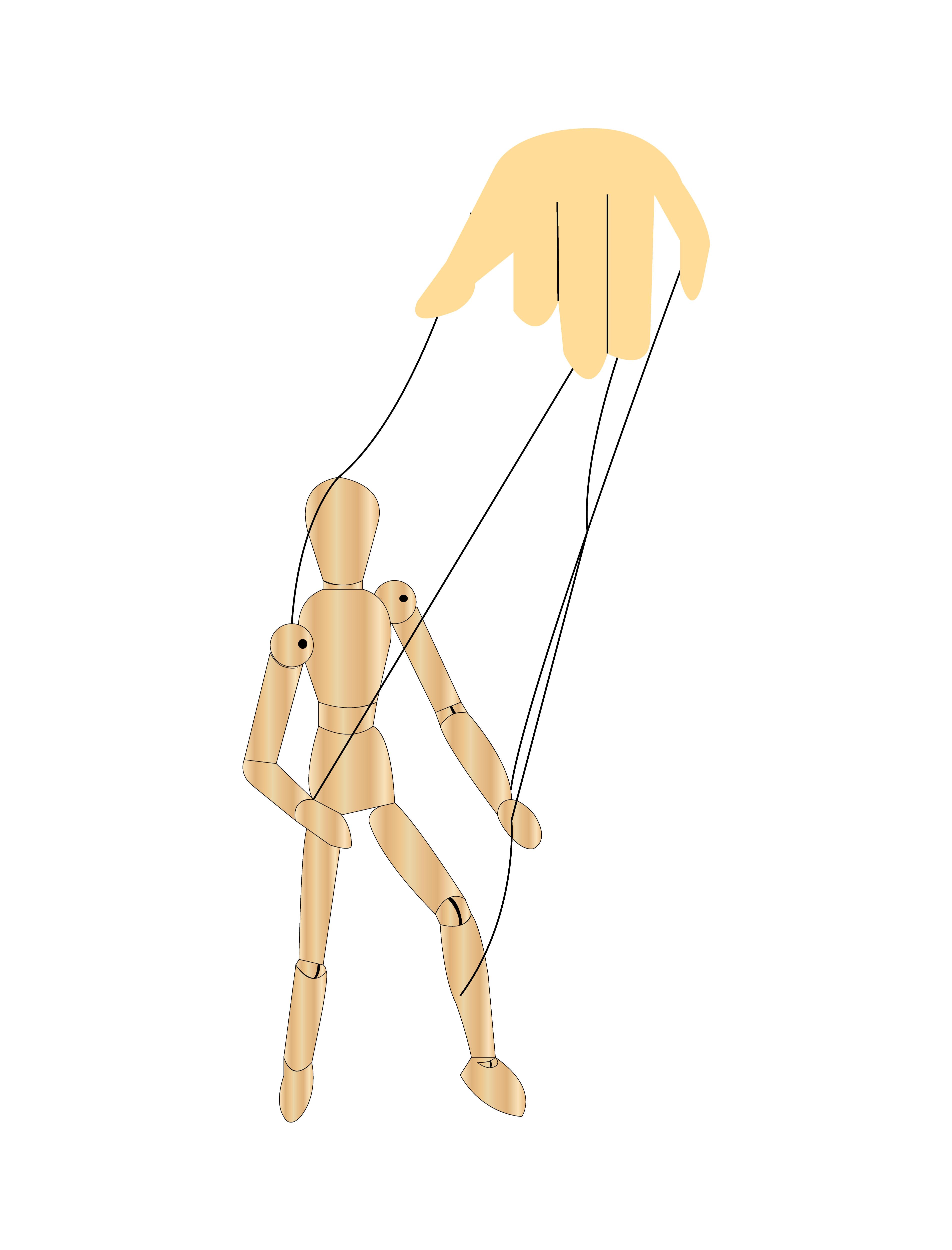 Puppet Strings Free Vector Art.