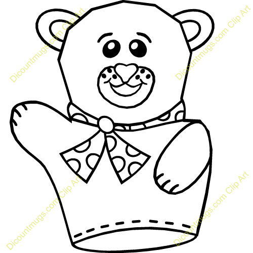 Clip Art Hand Puppet Clipart.