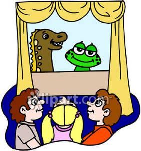 Puppet Show Clipart.