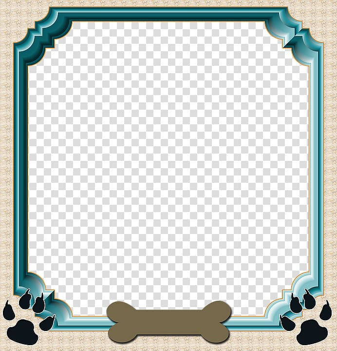 Blue frame template, Labrador Retriever Puppy frame Pet.