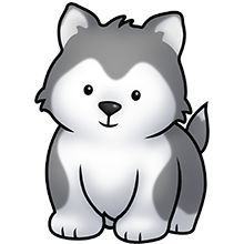 Husky Puppy Clipart.