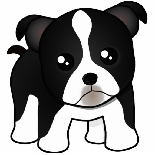 Puppy Dog Face Cartoon Clipart.