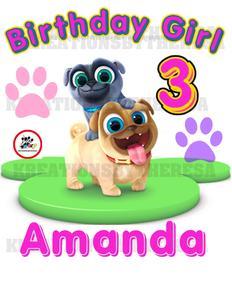 Puppy Dog Pal/Puppy Dog Pal Birthday Girl/Birthday Shirt/Family Shirts/ On  Transfer/Printable/.