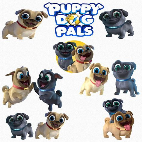 Puppy Dog Pals Clipart, 15 High Quality PNG Images with.