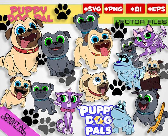 Puppy Dog Pals svg 24 files + numbers Rolly Bingo Hissy.
