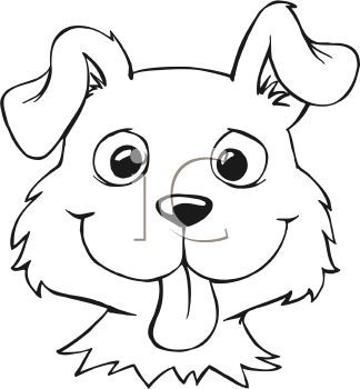 Simple Dog Face Clipart.