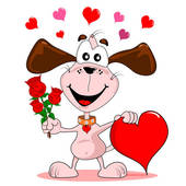 Puppy Love Clip Art.