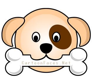 puppy cartoon faces.