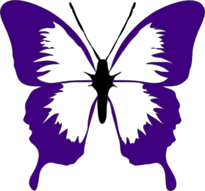 Butterfly purple clipart.