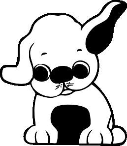 Clip Art Black Lab Puppy Clipart.