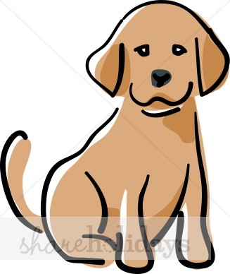 Puppy Clip Art Black And White.