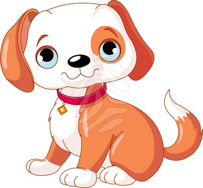 Cute puppy clip art.