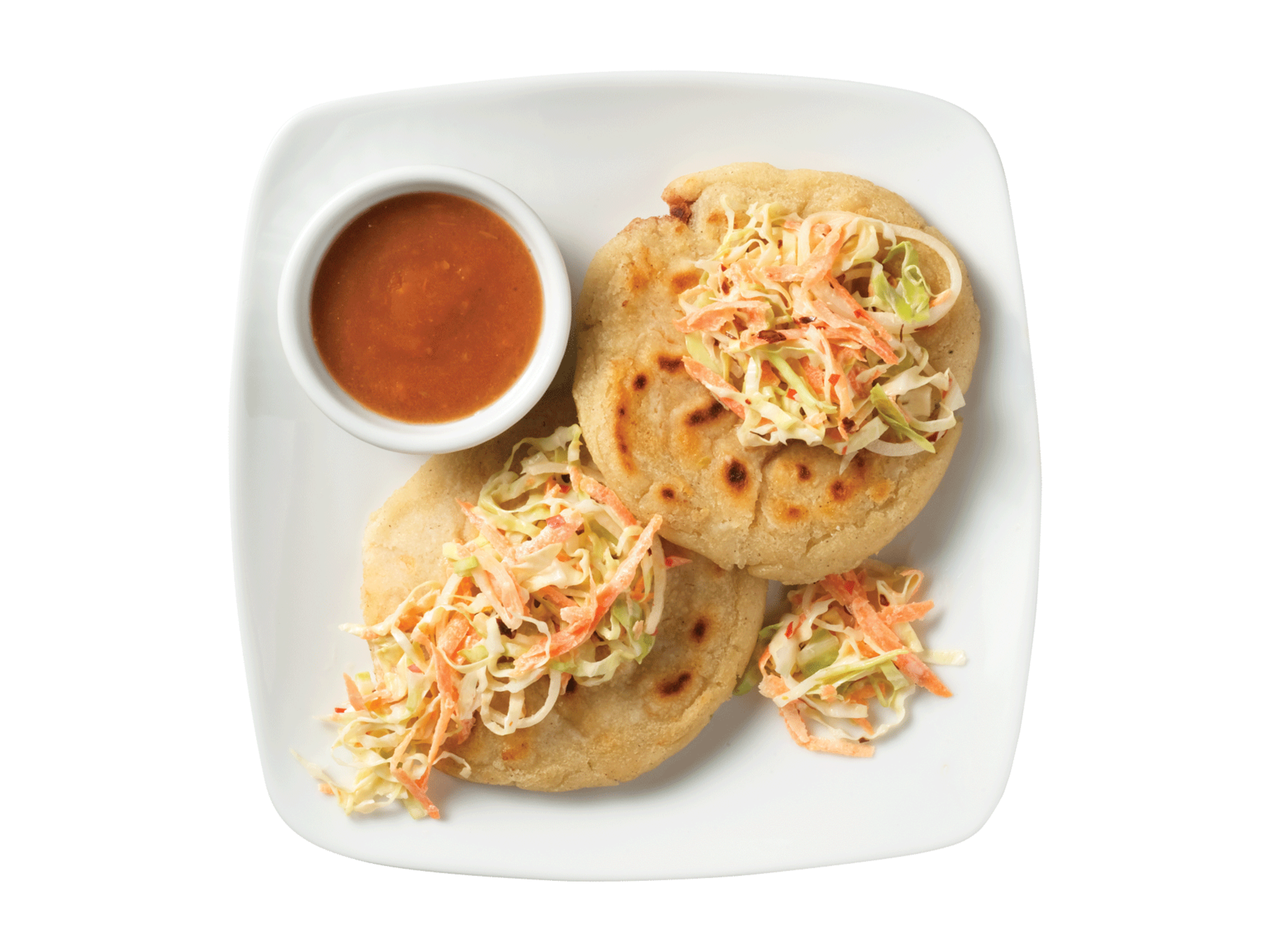 Salvadorean Pupusas (Stuffed Masa Cakes).