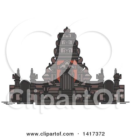 Clipart of a Landmark, Pura Rambut Siwi.