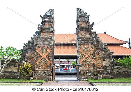 Bali temple clipart.