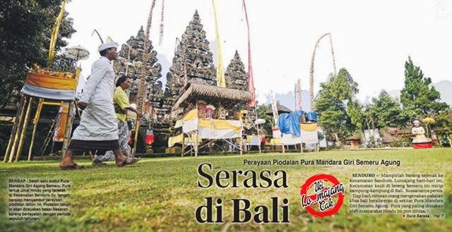 Perayaan Piodalan Pura Mandara Giri Semeru Agung Serasa di Bali.