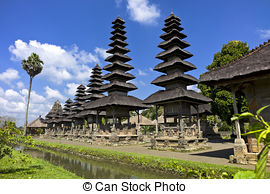 Stock Photography of Pura Taman Ayun Bali temple build in.