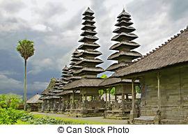 Stock Photography of Beautiful Pura Taman Ayun Bali temple build.