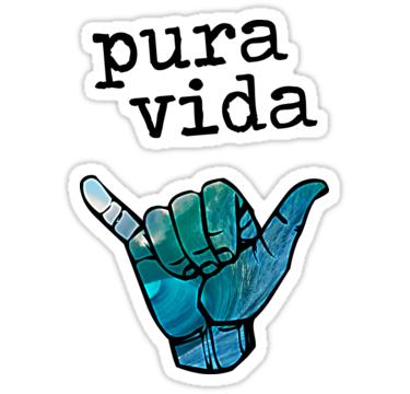 Pura Vida\' Sticker by ch4lie.