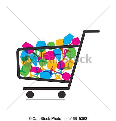 Clip Art Vector of crockery purchase vector.