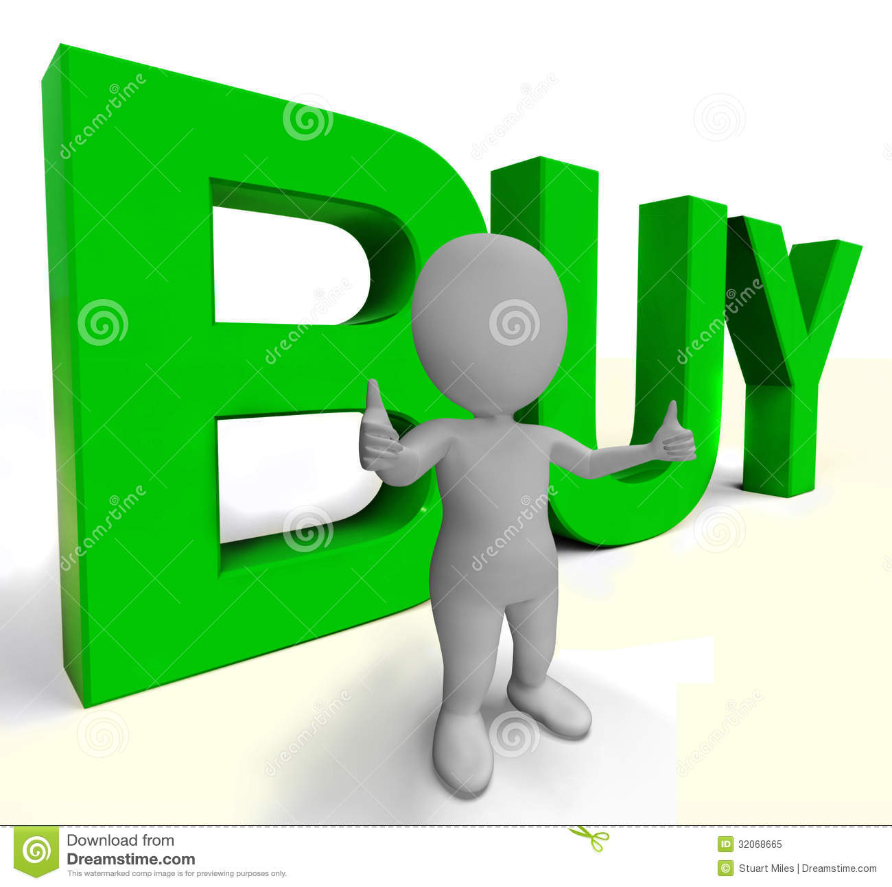 Buy Letters As Sign For Commerce And Purchasing Royalty Free Stock.