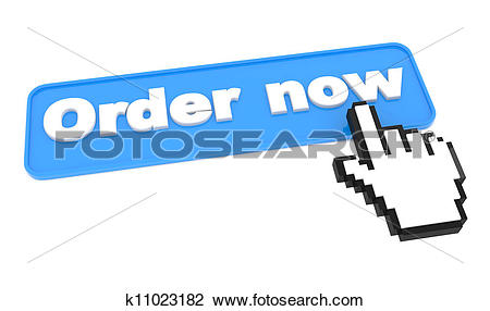 Clip Art of Button for Purchases on White. Online shop. k11023182.