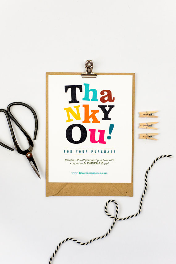 Thank You for Your Purchase template INSTANT DOWNLOAD.