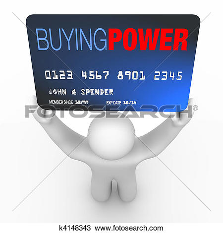 Drawing of Buying Power.
