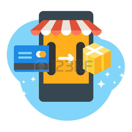 2,613 Mobile Purchasing Cliparts, Stock Vector And Royalty Free.