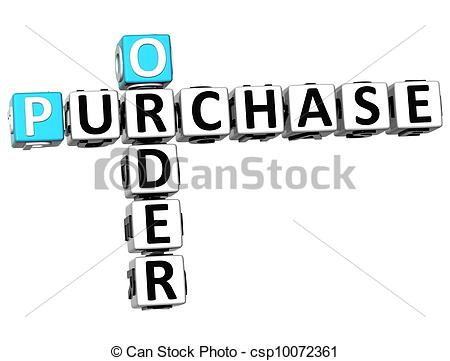 Clipart purchase order.