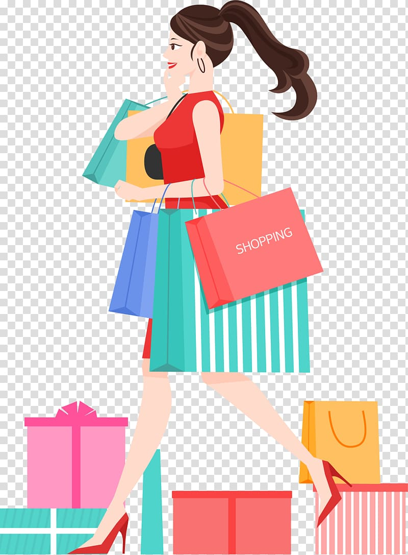 Shopping Illustration, Wedding purchasing transparent.