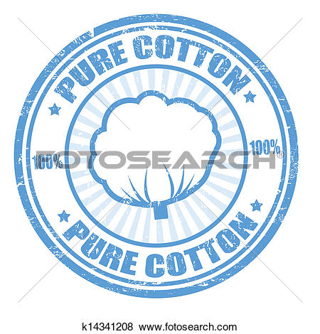 Clip Art of Pure cotton stamp k14341208.