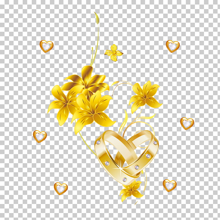 Gold Yellow Flower Jewellery, Pure gold flowers, yellow.