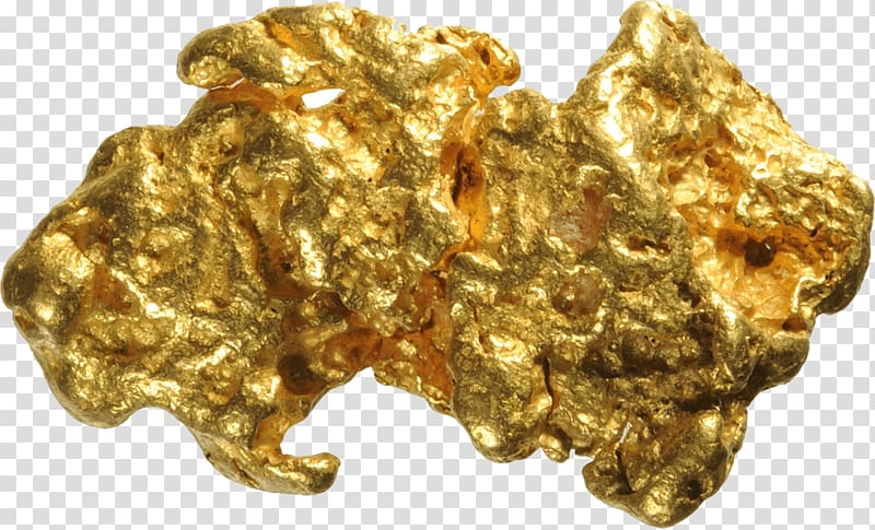 Gold stone, Pure Gold transparent background PNG clipart.
